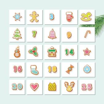 Calendario de adviento. cuenta atrás para navidad.