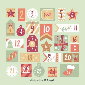 Calendario adviento formas diferentes