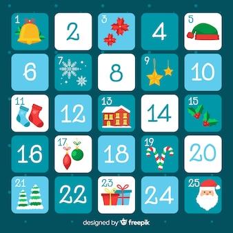Calendario de adviento plano