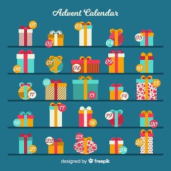 Calendario adviento regalos