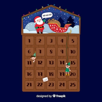 Calendario de adviento santa claus