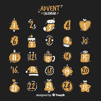 Calendario adviento simple