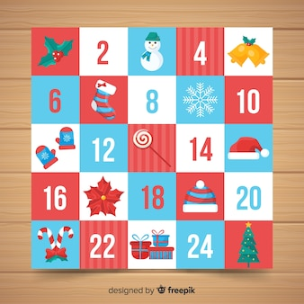 Calendario adviento simple