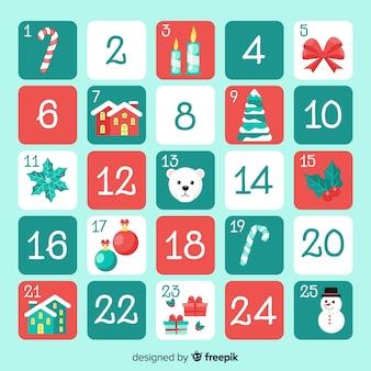 Calendario de adviento simple