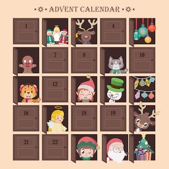 Calendario de adviento con sorpresas divertidas.