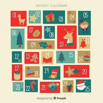 Calendario adviento vintage