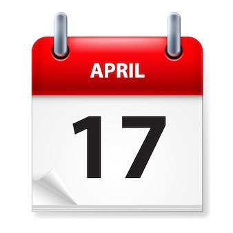 Calendario aislado en blanco