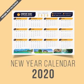 Calendario de año nuevo 2020