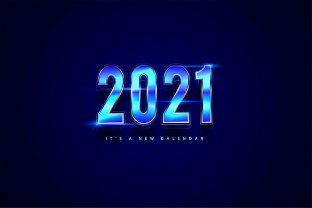 Calendario de año nuevo 2021, ilustración de vacaciones de plantilla de fondo colorido degradado