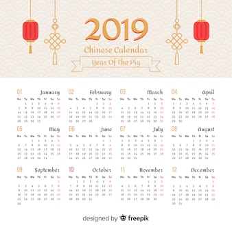 Calendario año nuevo chino