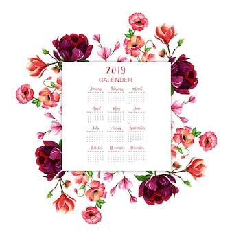 Calendario de año nuevo