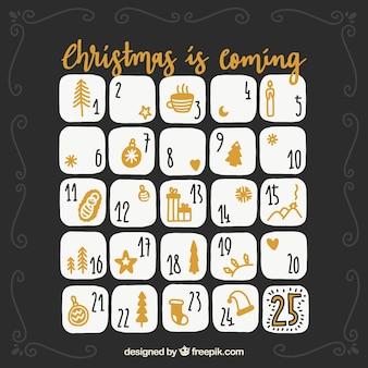 Calendario bonito de adviento