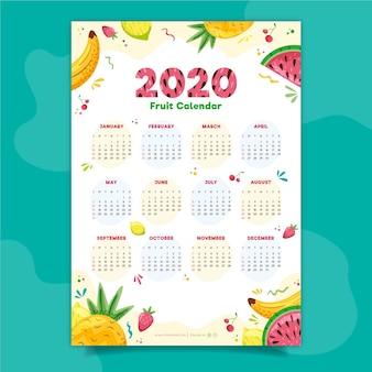 Calendario colorido 2020