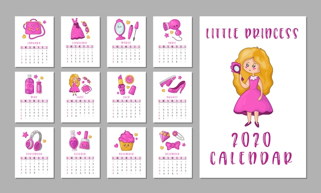 Calendario de cosas de chicas
