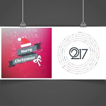 Calendario creativo de feliz navidad