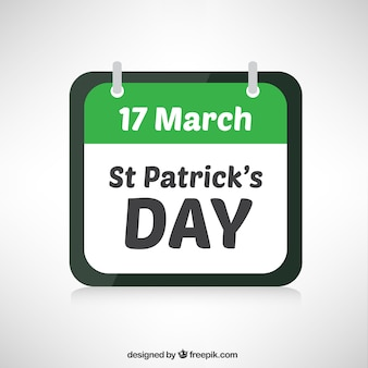 Calendario de día de san patricio
