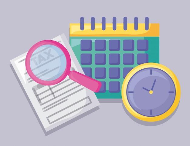 Calendario con economía y finanzas.