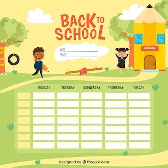 Calendario escolar para organizar