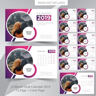 Calendario de escritorio 2019