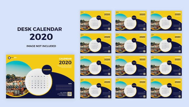 Calendario de escritorio 2020