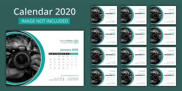Calendario de escritorio 2020