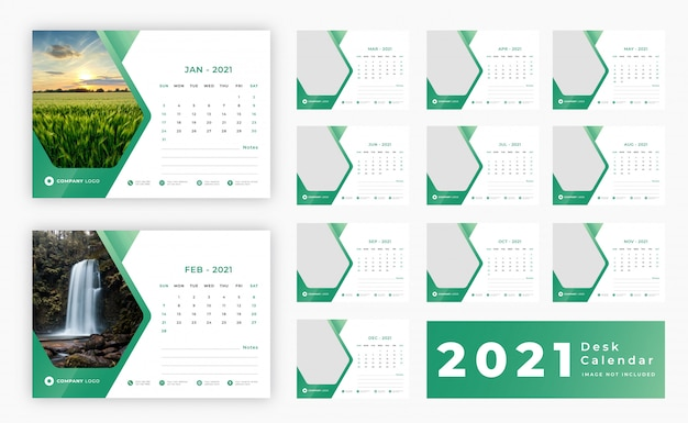 Calendario de escritorio 2021