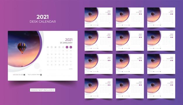 Calendario de escritorio, calendario de mesa 2021