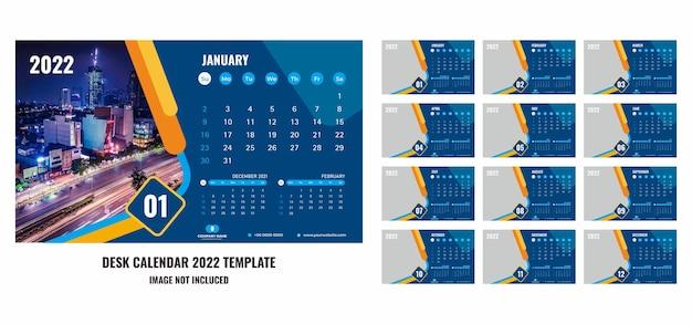 Calendario de escritorio o planificador 2022