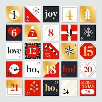 Calendario festivo de adviento