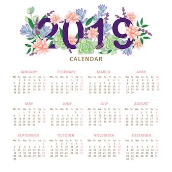 Calendario floral 2019