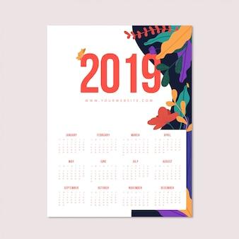 Calendario florido