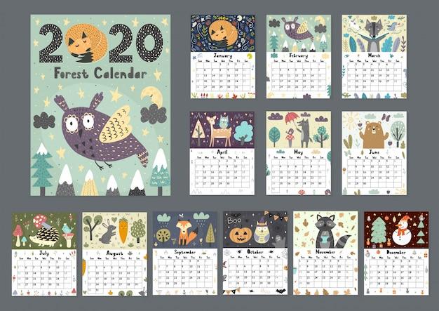 Calendario forestal para el año 2020