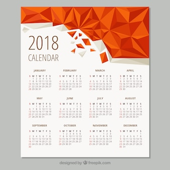Calendario geométrico de 2018