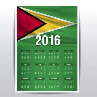 Calendario de guyana de 2016