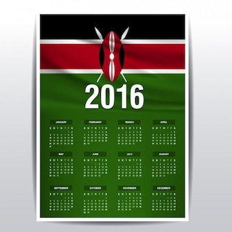 Calendario de kenia de 2016