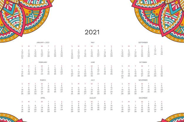 Calendario con mandalas.