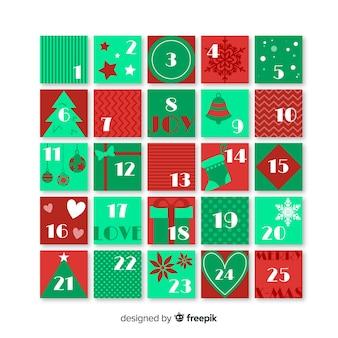 Calendario de navidad con estilo adorable
