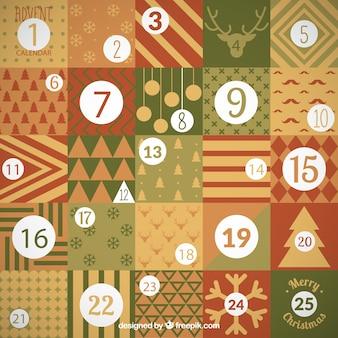 Calendario de navidad geométrico