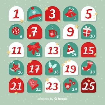 Calendario navidad simple