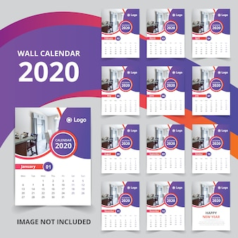Calendario de pared 2020