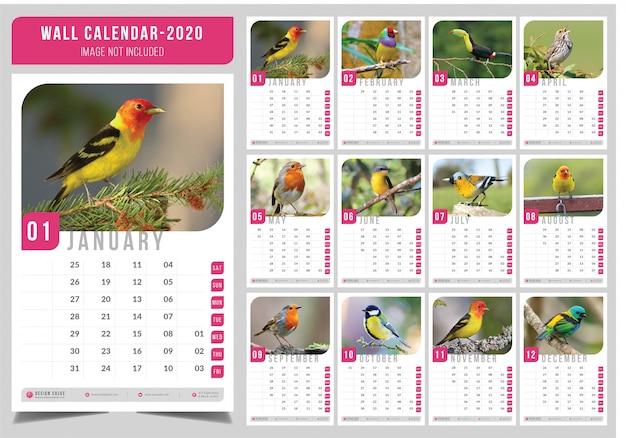 motivaci/ón 2020 Calendario de pared cuadrado