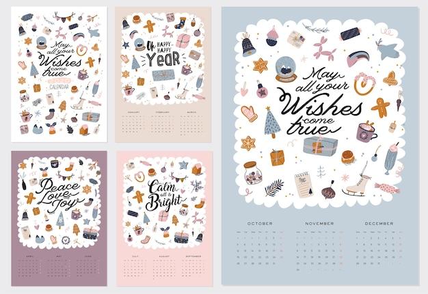 Calendario de pared. 2021