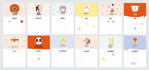 Calendario de pared feliz cumpleaños 2021.