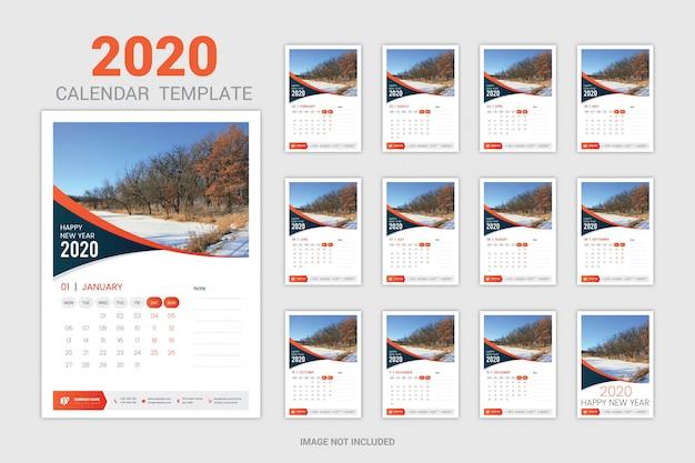 Calendario de pared naranja
