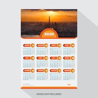 Calendario de pared de una página 20