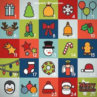 Calendario de personajes navideños