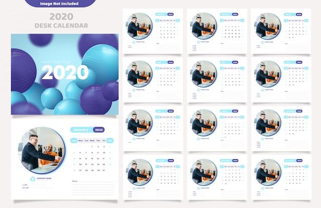 Calendario para la plantilla 2020