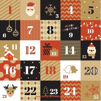 Calendario retro de adviento