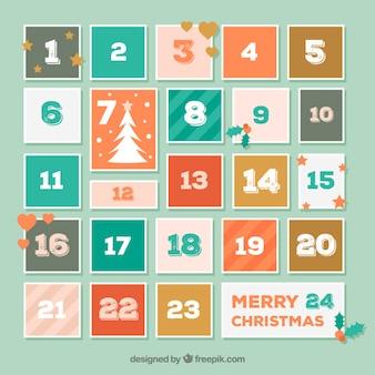 Calendario sencillo de adviento