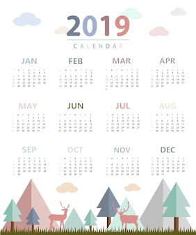 Calendario simple 2019